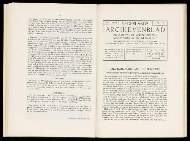 Nederlandsch Archievenblad 1955-09-01