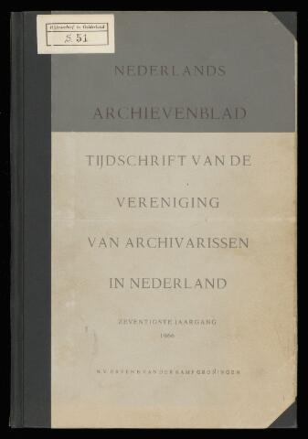 Nederlandsch Archievenblad 1966-06-01