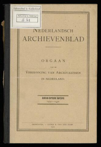 Nederlandsch Archievenblad 1931