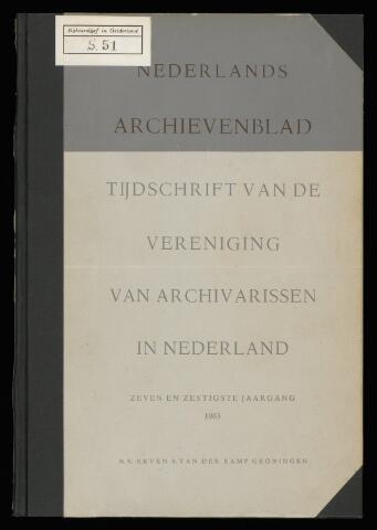 Nederlandsch Archievenblad 1963-06-01