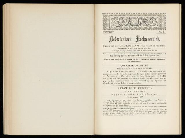 Nederlandsch Archievenblad 1927-09-01