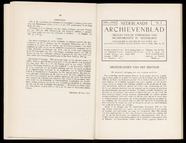 Nederlandsch Archievenblad 1952