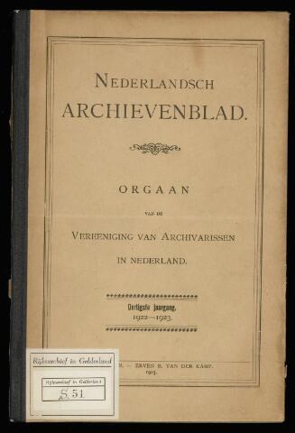 Nederlandsch Archievenblad 1923-02-01