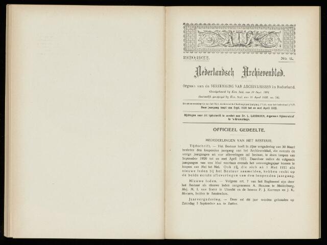 Nederlandsch Archievenblad 1921