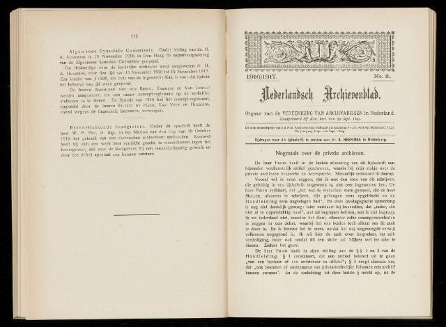 Nederlandsch Archievenblad 1916-09-03