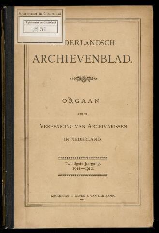 Nederlandsch Archievenblad 1911