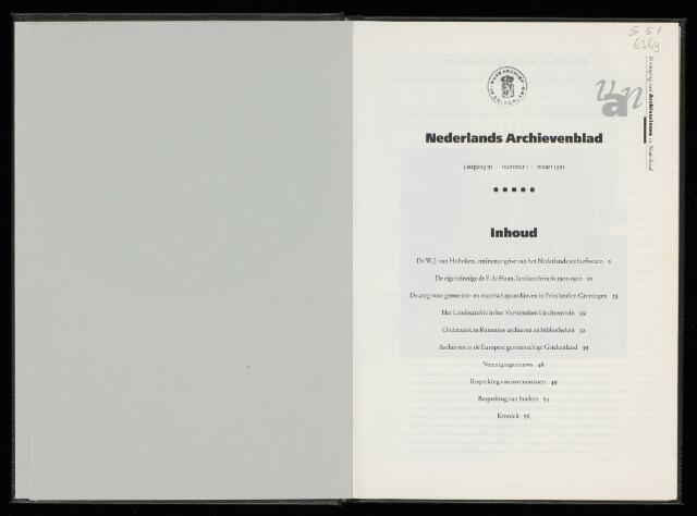 Nederlandsch Archievenblad 1991-03-01