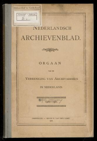 Nederlandsch Archievenblad 1900-09-01