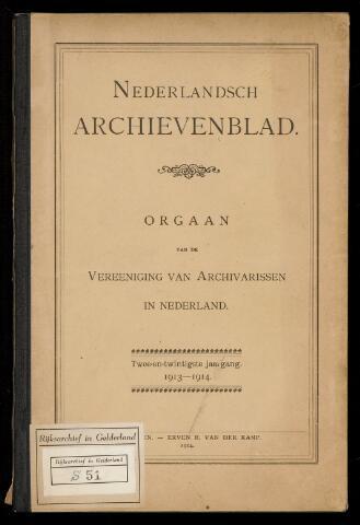Nederlandsch Archievenblad 1913