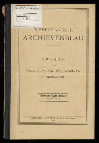 Nederlandsch Archievenblad 1939-01-01
