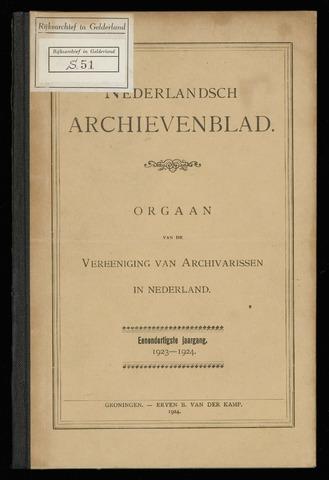 Nederlandsch Archievenblad 1923-10-01