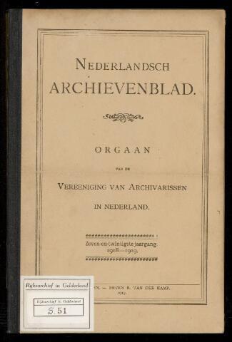 Nederlandsch Archievenblad 1918