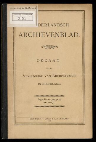 Nederlandsch Archievenblad 1910