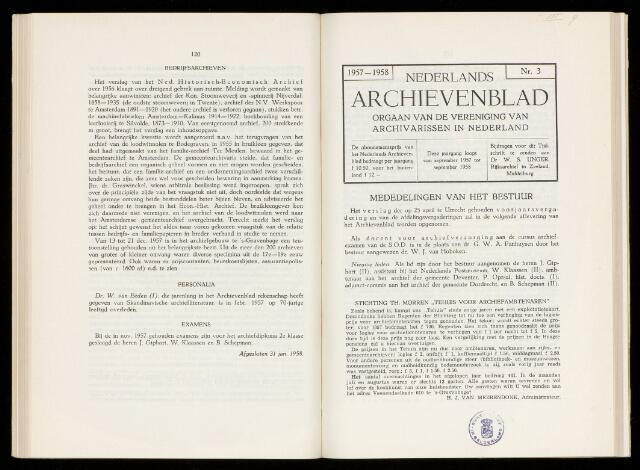 Nederlandsch Archievenblad 1958-06-01