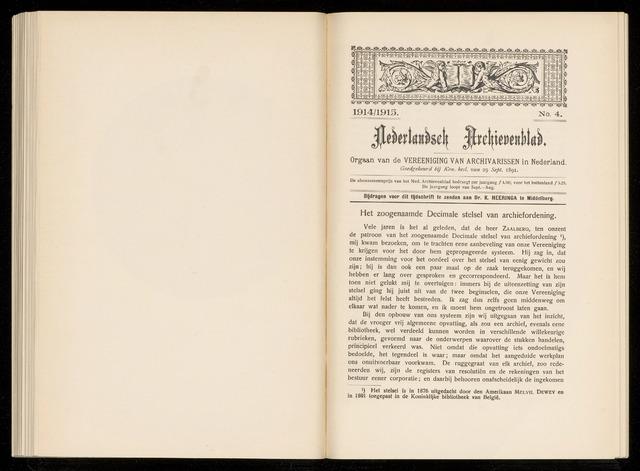 Nederlandsch Archievenblad 1914-09-04