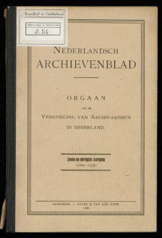 Nederlandsch Archievenblad 1930-01-01
