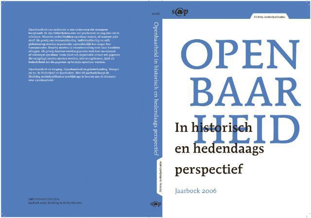 Jaarboeken Stichting Archiefpublicaties 2006-01-01