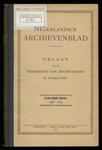 Nederlandsch Archievenblad 1929-01-01