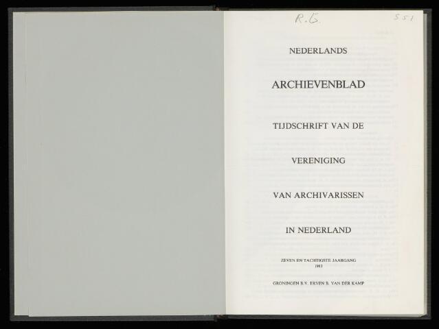 Nederlandsch Archievenblad 1983