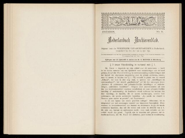 Nederlandsch Archievenblad 1917-09-03