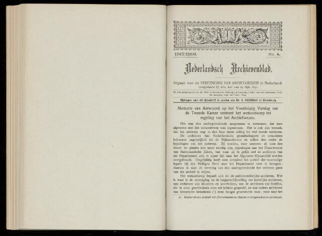 Nederlandsch Archievenblad 1917-09-04