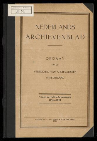 Nederlandsch Archievenblad 1955