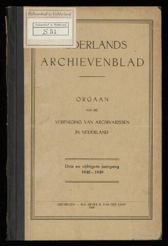 Nederlandsch Archievenblad 1949-01-01