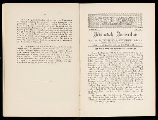 Nederlandsch Archievenblad 1905