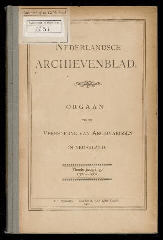 Nederlandsch Archievenblad 1901