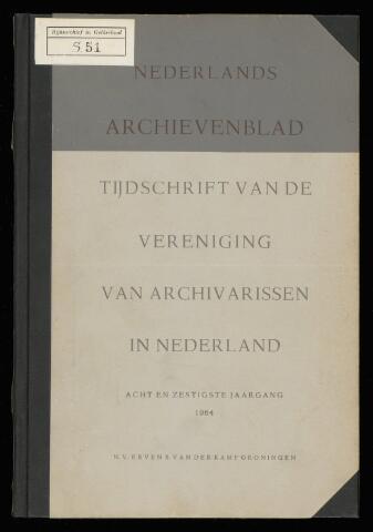 Nederlandsch Archievenblad 1964-06-01