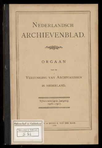 Nederlandsch Archievenblad 1916-09-01