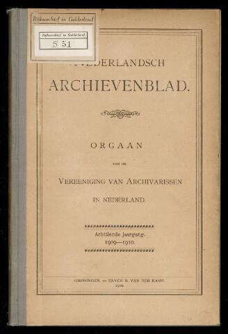 Nederlandsch Archievenblad 1909