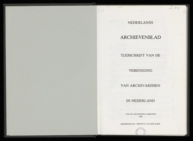 Nederlandsch Archievenblad 1981-04-01