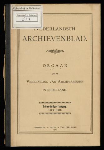 Nederlandsch Archievenblad 1926-01-01