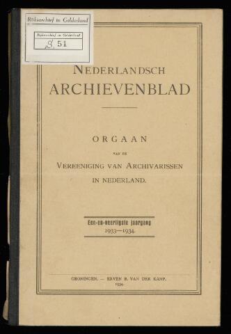 Nederlandsch Archievenblad 1934-01-01
