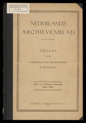 Nederlandsch Archievenblad 1954-01-01