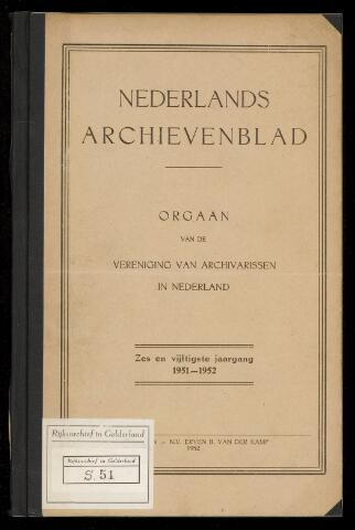 Nederlandsch Archievenblad 1951-12-01
