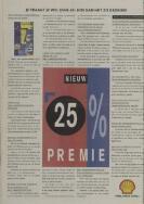 Shell Zegels Inleveren.Leidse Courant 4 September 1992 Pagina 10 Historische