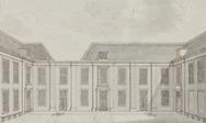 Binnenplaats van het Waalsche Diaconiehuis