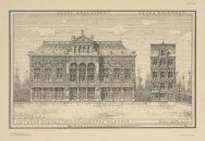 Gevel Breestraat / Gevel Aalmarkt. Ontwerp voor een Stadsgehoorzaal te Leiden