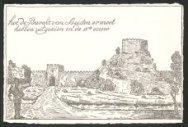 Hoe de Burcht van Leiden er moet hebben uitgezien in de 13e eeuw.