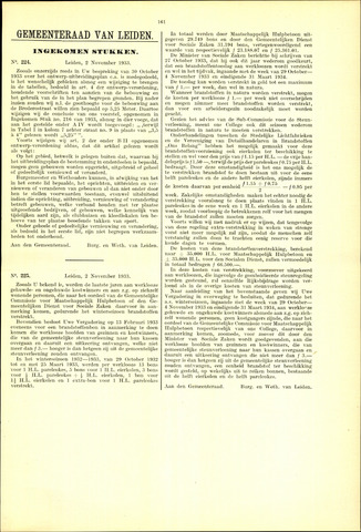 Handelingen van de Raad 1933-11-02