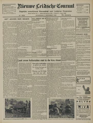 Nieuwe Leidsche Courant 1938-11-03
