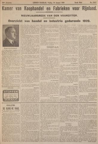 Leidsch Dagblad 1930-01-11