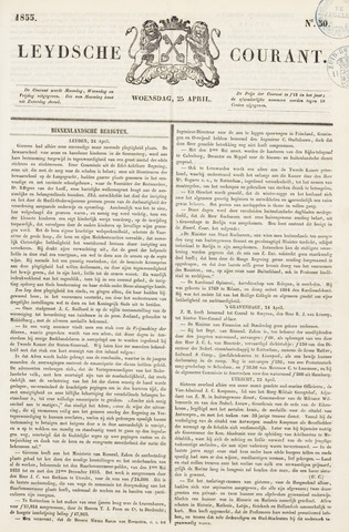 Leydse Courant 1855-04-25