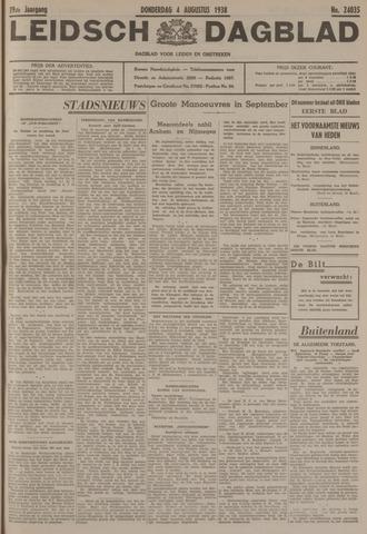 Leidsch Dagblad 1938-08-04