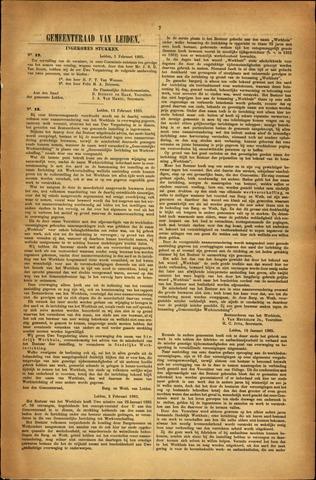 Handelingen van de Raad 1885-02-05