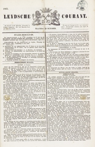 Leydse Courant 1865-10-23