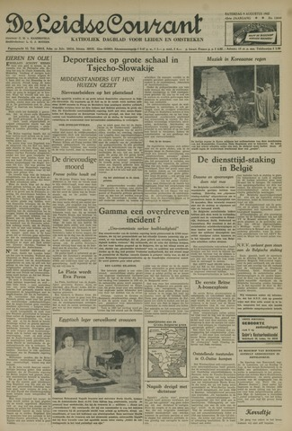 Leidse Courant 1952-08-09