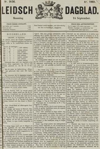 Leidsch Dagblad 1868-09-14